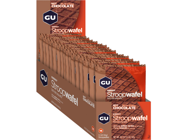 GU Energy Stroop Stroopwafel Box 16x32g, Hot Chocolate